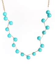 Riah Fashion Turquoise Necklace Set - Front full body