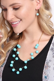Riah Fashion Turquoise Necklace Set - Side cropped