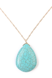 Riah Fashion Turquoise Pendant Necklace - Front full body