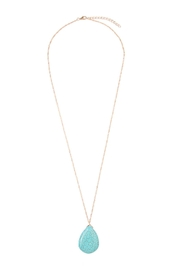 Riah Fashion Turquoise Pendant Necklace - Front cropped