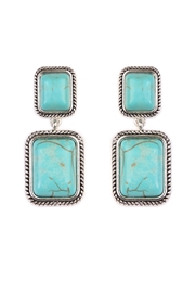 Riah Fashion Rectangular Dangle Earrings - Front cropped