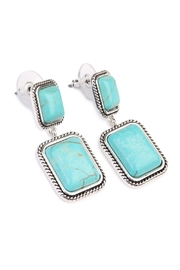 Riah Fashion Rectangular Dangle Earrings - Front full body