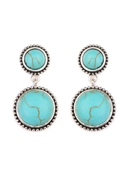 Riah Fashion Round Dangle Earrings - Product Mini Image