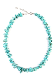 Riah Fashion Turquoise Small Pebble Necklace - Product Mini Image