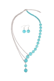 Riah Fashion Turquoise Split Necklace Set - Front cropped