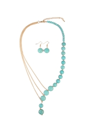 Riah Fashion Turquoise Split Necklace Set - Product Mini Image