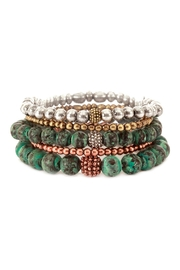 Riah Fashion Turquoise Stackable Stretch Bracelet - Product Mini Image