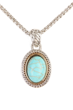 Shoptiques Product: Turquoise Stone Oval Necklace