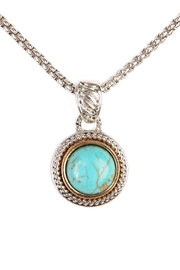 Riah Fashion Turquoise Stone Round Necklace - Product Mini Image