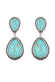 Riah Fashion Teardrop Dangle Earrings - Product Mini Image