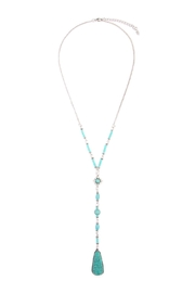 Riah Fashion Angelica Silver Lariat Necklace - Product Mini Image