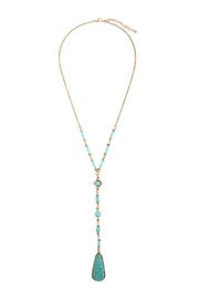 Riah Fashion Angelica Gold Lariat Necklace - Product Mini Image