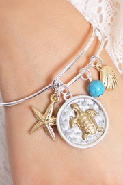 Riah Fashion Turtle Wired Bracelet - Front full body