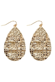 Riah Fashion Tweed Casting Earrings - Front cropped
