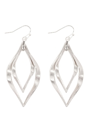 Riah Fashion Twist Textured-Layered-Marquise-Shape-Fish-Hook-Earrings - Front cropped