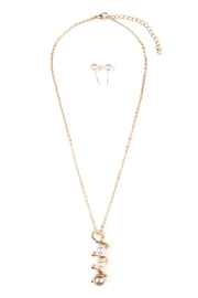 Riah Fashion Twisted-Pearl Necklace Set - Product Mini Image