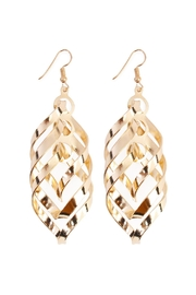 Riah Fashion Twisted Stacked Earnings - Product Mini Image