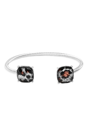 Riah Fashion Twisted-Wire-Leopard Cuff Bracelet - Front cropped