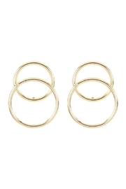Riah Fashion Two-Open Ring Over-Wrap-Earrings - Front cropped