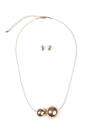 Riah Fashion Two Round Decor Necklace - Product Mini Image