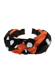 Riah Fashion Two Tone Polka-Dots-Knotted-Fabric-Headband - Product Mini Image