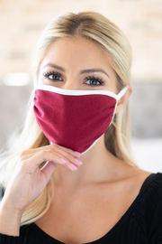 Riah Fashion Two Tone Reusable Face Mask For Adults - Product Mini Image