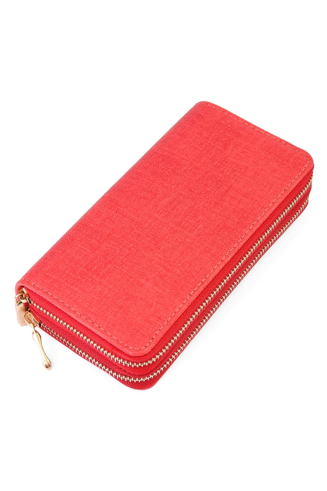Riah Fashion Two Tone Wallet - Front Cropped Image