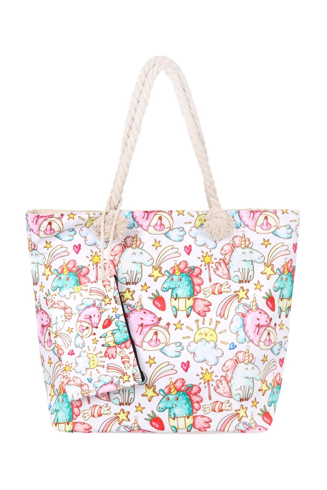 Riah Fashion Unicorn-Digital-Printed-Tote-Bag-W/-Matching-Wallet - Main Image