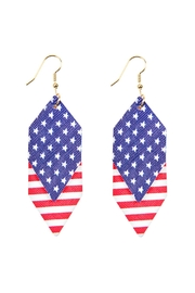Riah Fashion Usa-Accent-Hexagon-Layered-Leather-Drop-Earrings - Product Mini Image