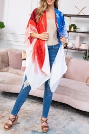 Riah Fashion Usa-Accent-Knee-Length-Open-Front-Kimono - Front full body