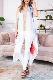 Riah Fashion Usa-Accent-Knee-Length-Open-Front-Kimono-Vest - Product Mini Image