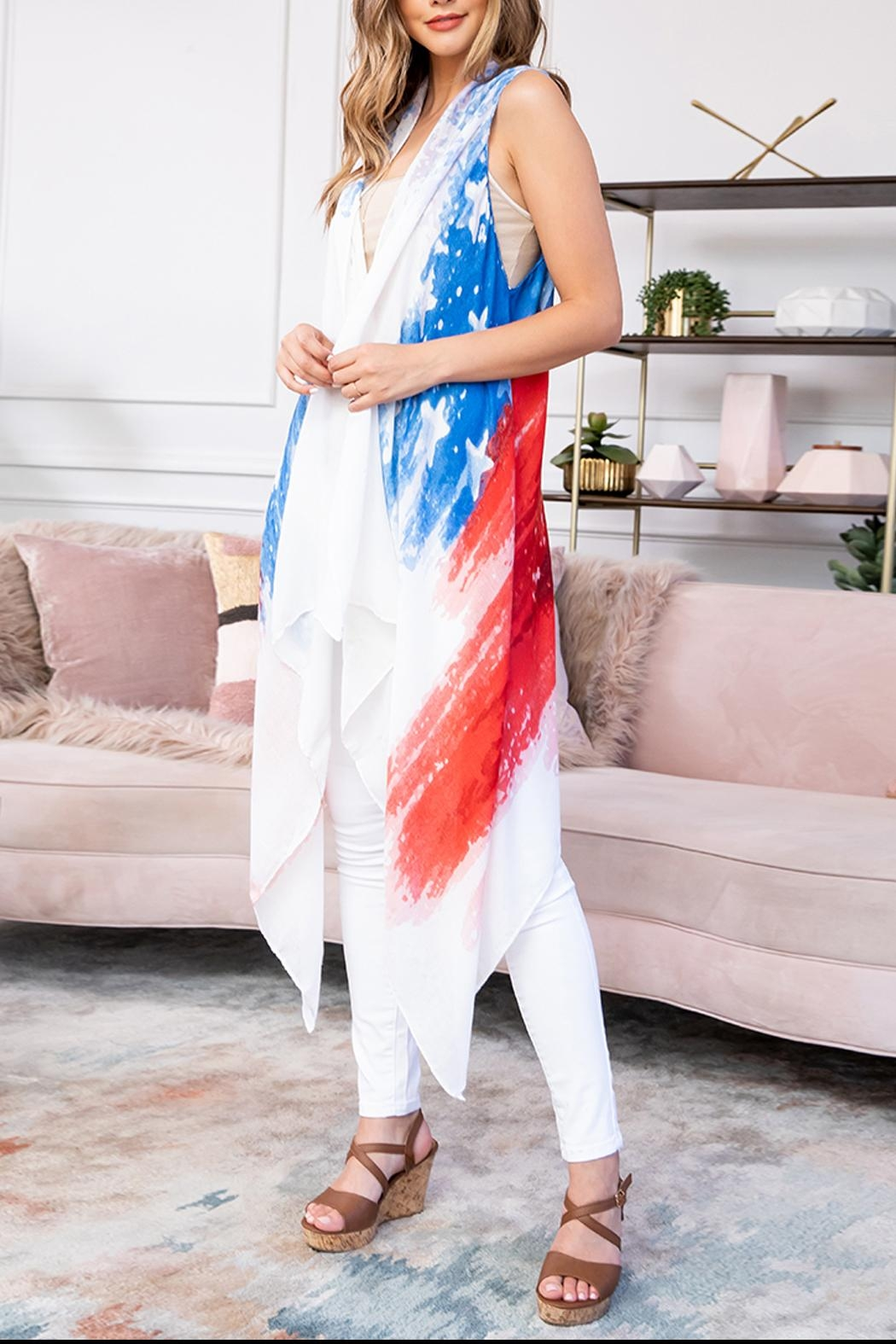 Riah Fashion Usa-Accent-Knee-Length-Open-Front-Kimono-Vest - Front Full Image
