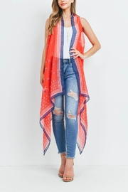 Riah Fashion Usa-Accent-Star-Open-Front-Kimono-Vest - Front cropped
