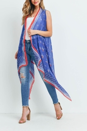 Riah Fashion Usa-Accent-Star-Open-Front-Kimono-Vest - Product Mini Image