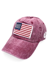 Riah Fashion Usa-American-Flag-Fashion-Embroiedered-Baseball-Cap - Front cropped
