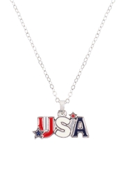Riah Fashion Usa-With-Star-Necklace-And-Earring-Set - Front full body