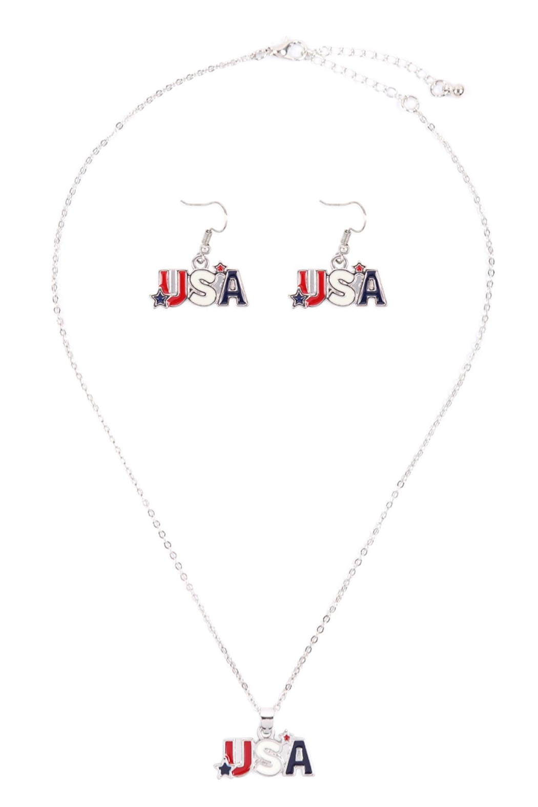 Riah Fashion Usa-With-Star-Necklace-And-Earring-Set - Main Image