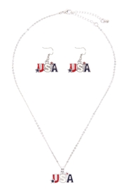 Riah Fashion Usa-With-Star-Necklace-And-Earring-Set - Front cropped