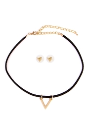 Riah Fashion V Pendant Choker Set - Product Mini Image