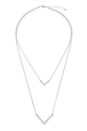 Riah Fashion V-Shaped Layered Necklace - Product Mini Image