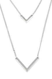 Riah Fashion V-Shaped Layered Necklace - Front full body