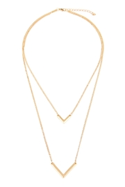 Riah Fashion V-Shaped Layered Necklace - Front cropped