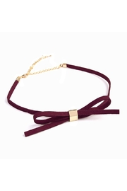 Riah Fashion Velvet Bow Choker - Product Mini Image