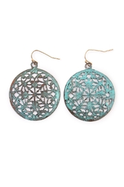 Riah Fashion Vintage Abstract Earrings - Product Mini Image