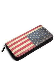 Riah Fashion Vintage American Flag Wallet - Product Mini Image