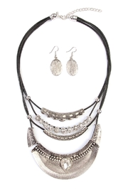 Riah Fashion Vintage-Aztec-Necklace & Earring-Set - Front cropped