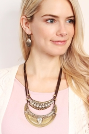 Riah Fashion Vintage-Aztec-Necklace & Earring-Set - Front full body