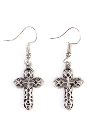 Riah Fashion Vintage Cross Bohemian-Earrings - Product Mini Image