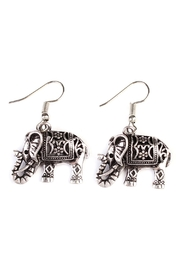 Riah Fashion Vintage Elephant Bohemian-Earrings - Product Mini Image