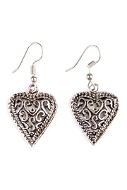 Riah Fashion Vintage Heart Bohemian-Earrings - Product Mini Image
